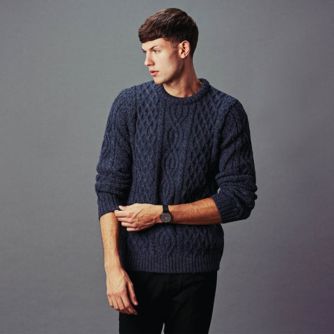 Mens aran fisherman style jumper