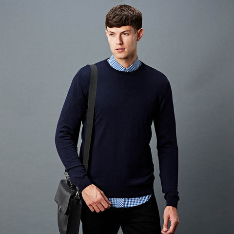 Mens merino Crew neck jumper