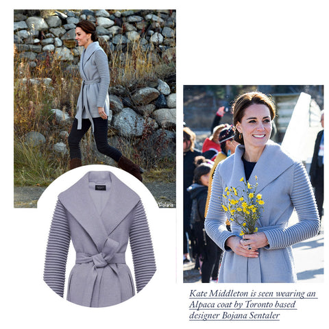 Kate Middleton's alpaca lilac coat
