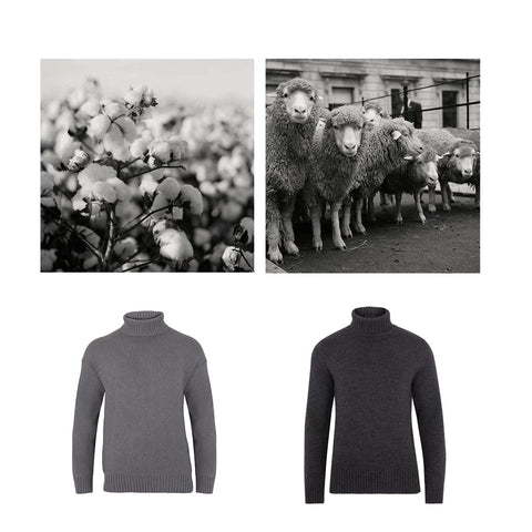 Men's and Women's Cotton and Merino 100% Chunky Natural Fibre Submariner Jumpers