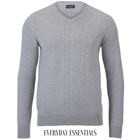 mens grey v neck sweater