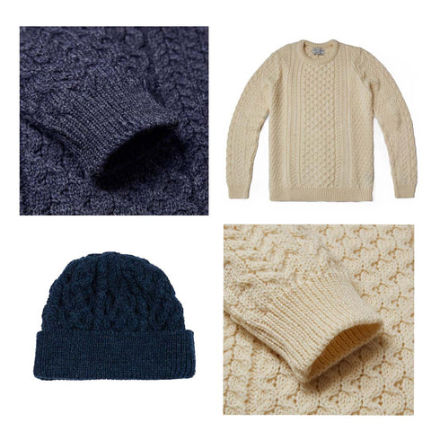 Men's and Women's British Wool Autumn Winter Accessories and Knitwear