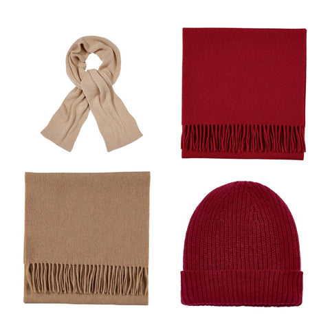 Unisex Men's and Women's Cashmere Woven and Knitted Accessories