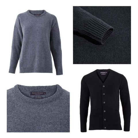 Men's and Women's Pure, Natural Lambswool Knitwear