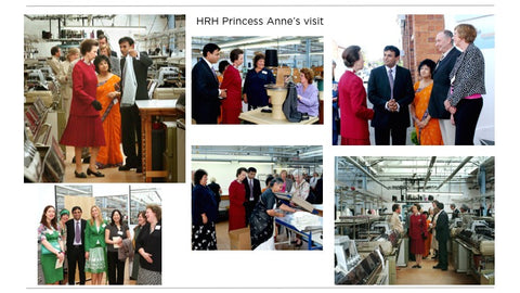 HRH Princess Anne Visit To Leicester Knitwear Factory