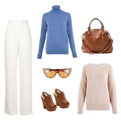Springtime Brunch Relaxed Cotton Roll Neck