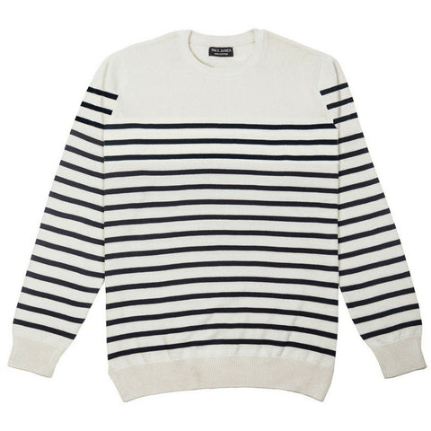ecru and navy breton jumper