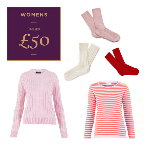 Women's Luxury Natural Fibre Seasonal Gifts under £50