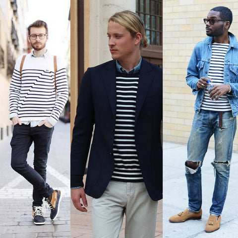 how to style the breton stripe sweatshirt with denim