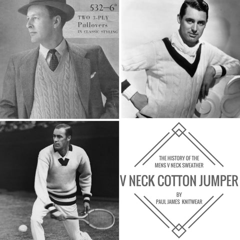 tennis v neck cotton pull over sweater