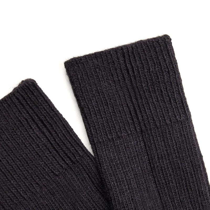 black alpaca walking socks