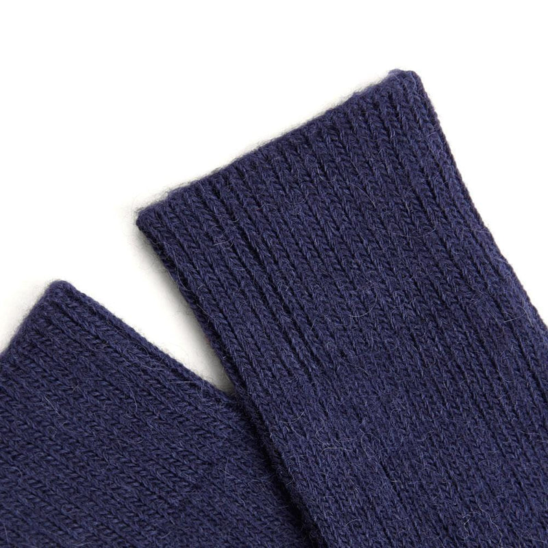 navy alpaca walking socks