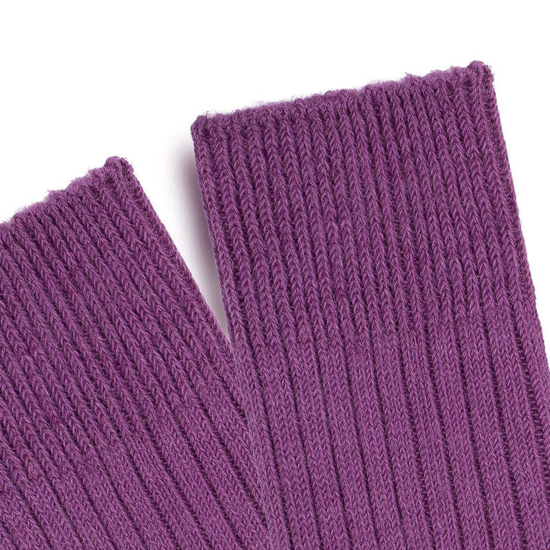 purple warm and comfortable walking boot sock