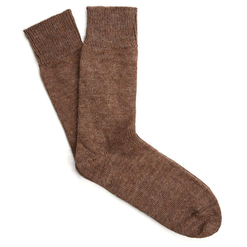 brown alpaca socks