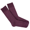 purple alpaca sock