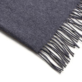 charcoal lambswool travel blanket scarf