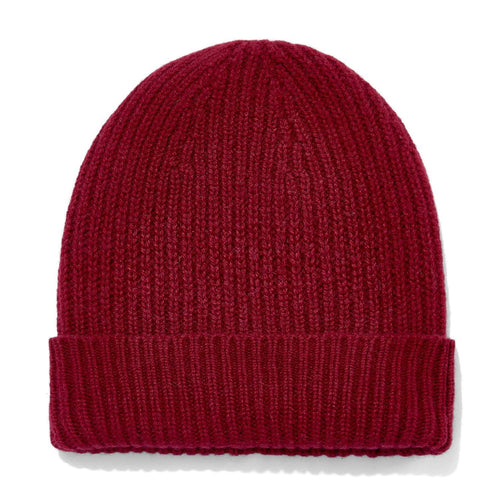 womens red cashmere beanie hat