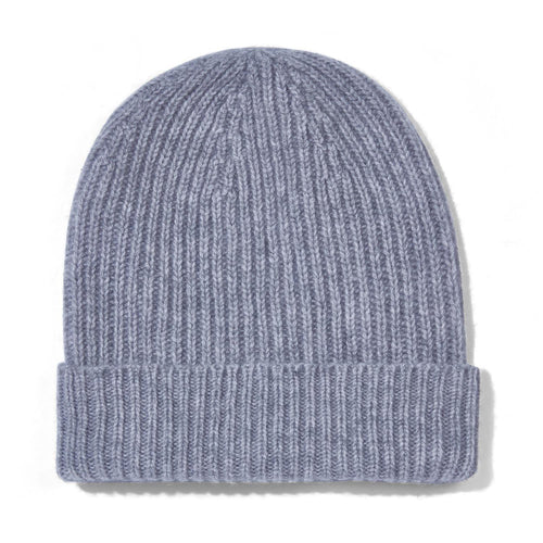 womens grey cashmere beanie hat