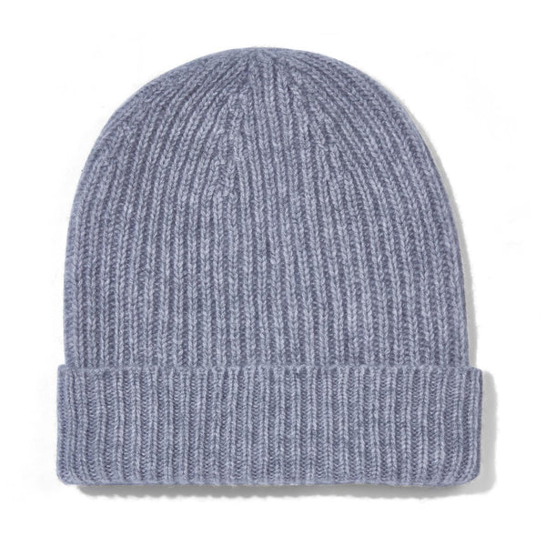 Womens 100% Cashmere Ribbed Beanie Hat – Paul James Knitwear 5217dc3791f