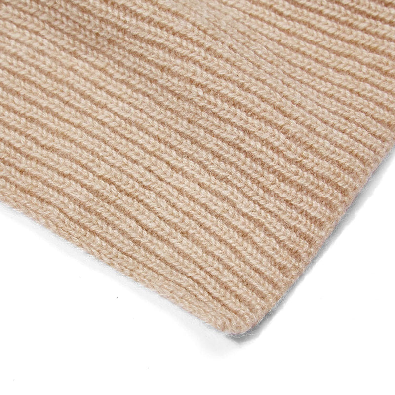 beige knitted cashmere scarf