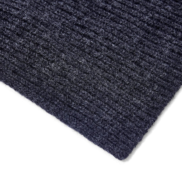 charcoal knitted cashmere scarf