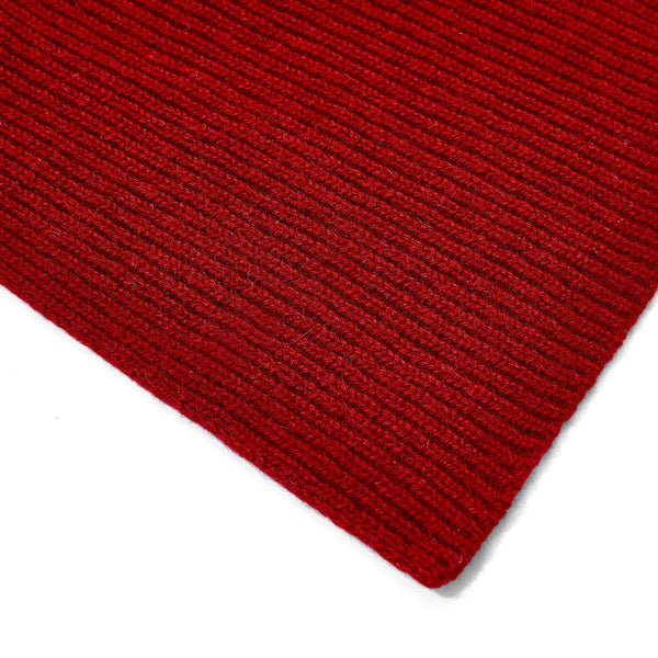red knitted cashmere scarf