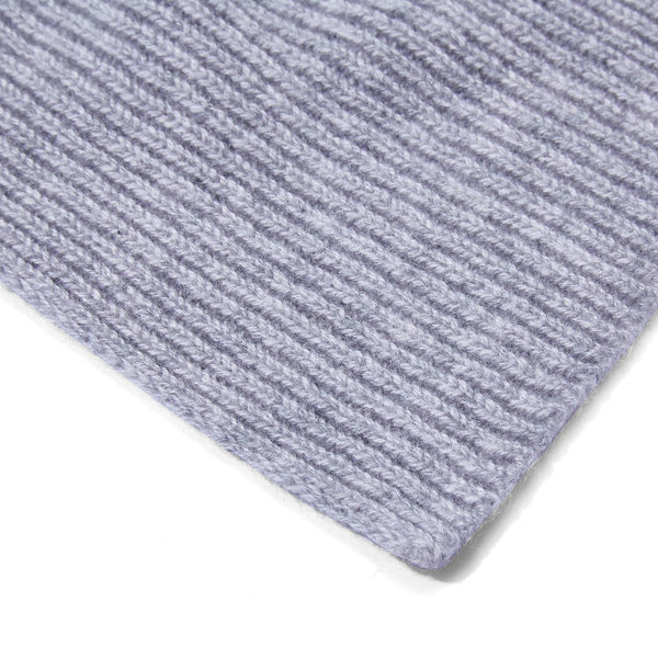 Mens 100% Cashmere Ribbed Beanie Hat & Scarf Gift Set