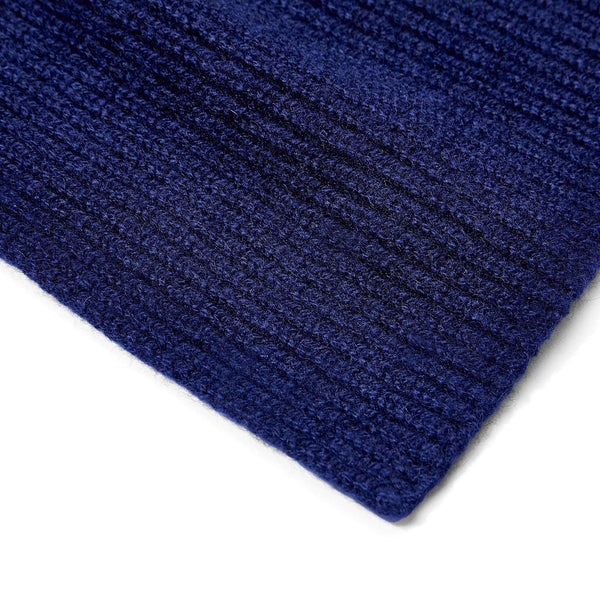 navy knitted cashmere scarf