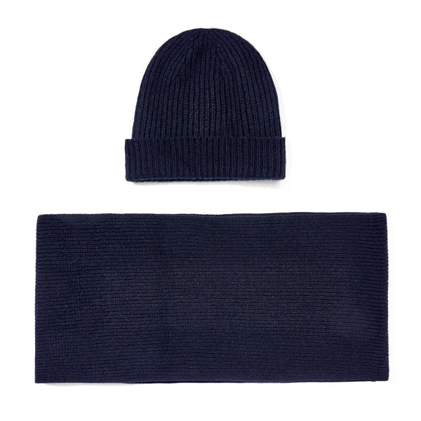 fdc16c1d58ed1 Mens 100% Cashmere Ribbed Beanie Hat   Scarf Gift Set – Paul James ...