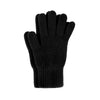 black cashmere luxury gloves