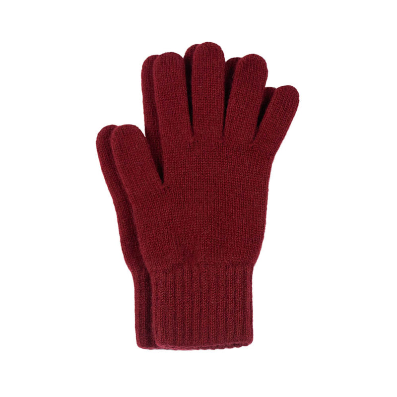 burgundy cashmere gloves