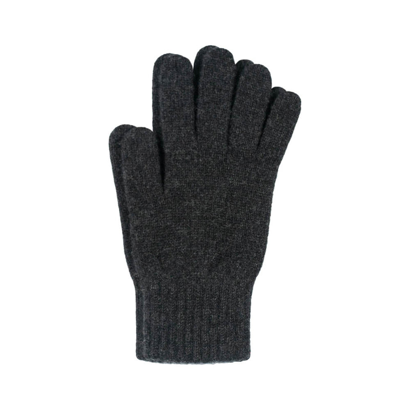 charcoal cashmere gloves