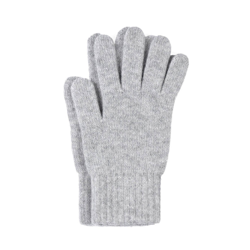 light grey cashmere gloves