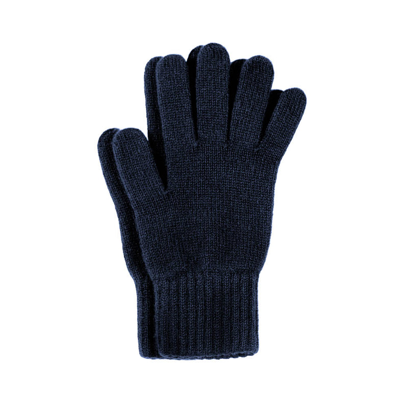 navy cashmere gloves