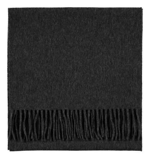 charcoal luxury cashmere woven thin scarf