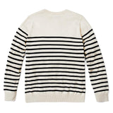 100% COTTON STRIPED BRETON JUMPER - Paul James Knitwear- Back
