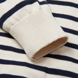 Mens 100% Cotton Striped Breton Sweater