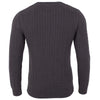 charcoal grey mens luxury cotton cable sweater