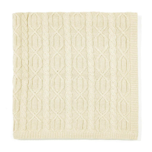 ecru chunky cotton ribbed baby blanket