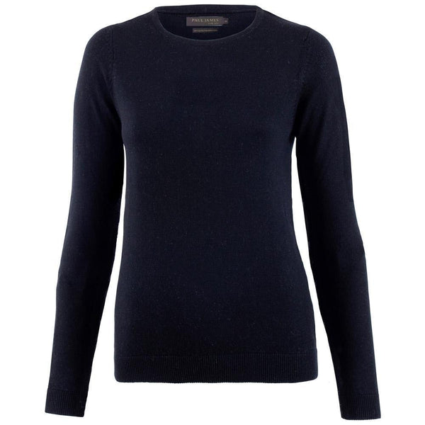 Womens Pure Extra Fine Merino Wool Crew Neck Jumper