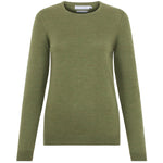 womens pea green lightweight fine knit merino wool jumper