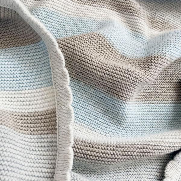 Striped Cotton Baby Blanket