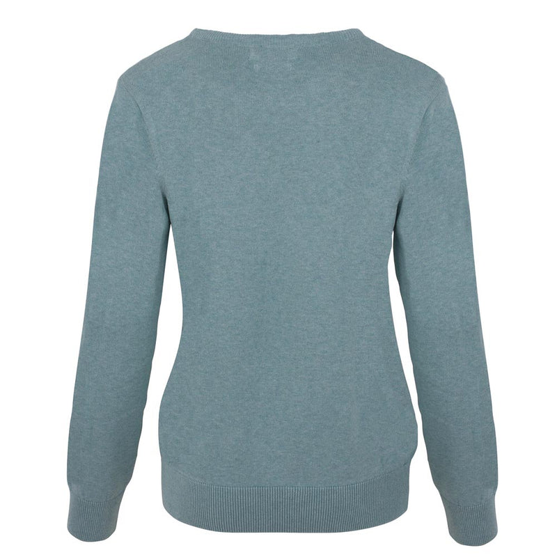 women's round neck mint green sweater  Edit alt text