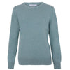 women's round neck mint green sweater