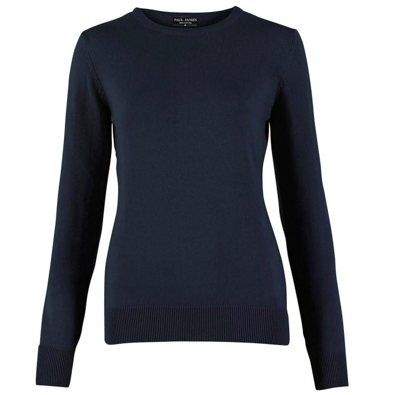 Womens 100% Cotton Crew Neck Jumper