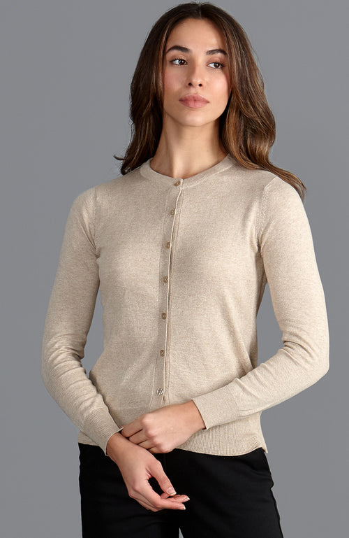 womens beige lightweight thin cardigan