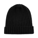 black warm winter wool beanie hat