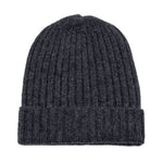 charcoal grey warm winter wool beanie hat
