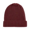 cinnamon red warm winter wool beanie hat