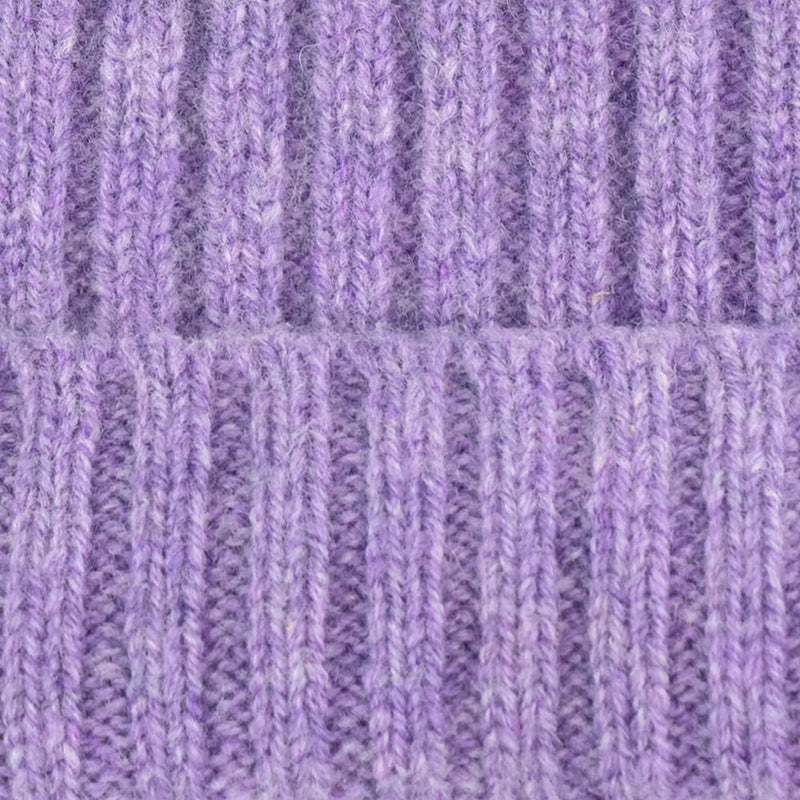 purple lilac warm winter wool beanie hat
